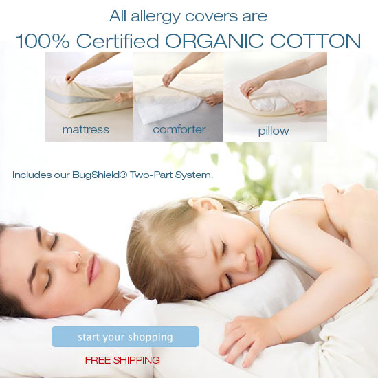 allergy covers 100% certified organic cotton